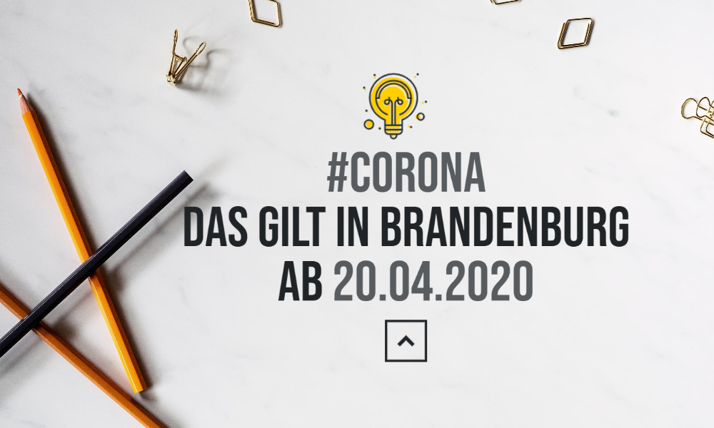 Corona-Pandemie: das gilt in Brandenburg ab dem 20. April