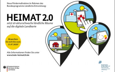"""Förderaufruf für Modellvorhaben – BULE-Initiative """"Heimat 2.0"""""""