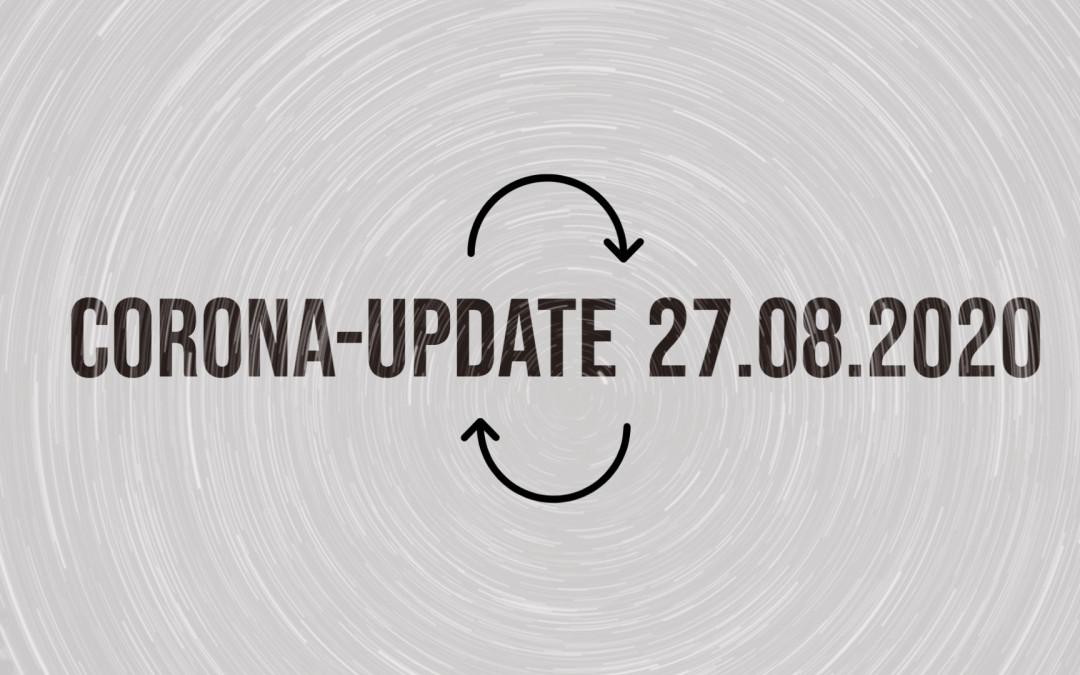 Bund-Länder-Vereinbarung: Corona-Update vom 27. August 2020