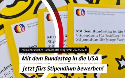 Für ein Jahr in die USA: Das Parlamentarische Patenschafts-Programm 2022/2023